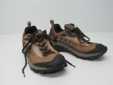 MERRELL PULSE SMOKE LEATHER HIKING SHOES sz MEN'S 10