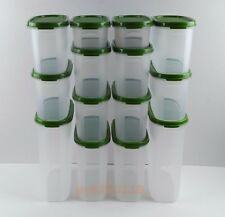 NEW Tupperware Modular Mates Oval Green Combo Pantry Set of 14 + Free Express