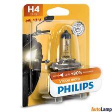 H4 Lampadine Alogene PHILIPS 12342PRBW Fanale del motociclo Vision Moto Single
