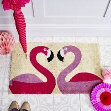 Bombay Duck Pink Flamingo Door Mat - Natural Coir Flamingoes