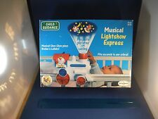 "Vintage New Bozo's Baby Light Show Express ""Brahm's Lullaby"" Music Box Nib"