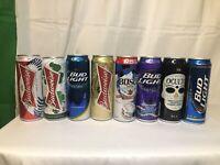 Lot Of | Anhuser Busch | Bud light | Budweiser | Rare  Beer Cans