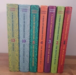LEMONY SNICKET– A SERIES of UNFORTUNATE EVENTs  BUNDLE– No 1, 2, 3, 4, 5, 10, 13