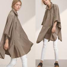 US CHIC Women Raincoat Jackets Casual Loose Cape Sleeve Oversized Outwear Coat