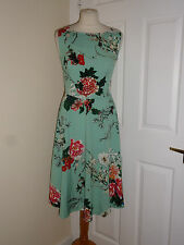 NEW Flower & Rain Clothing SUMMER HOLIDAY WEDDING COTTON DRESS SIZE UK 10 EU S