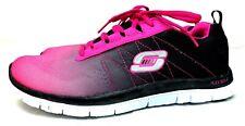 Skechers Flex Appeal Pink Black Running Shoes Women Sz 8.5