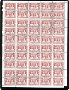 Canada King George V & Queen Mary Scott 213 Sheet of 50 stamps SUPERB MNH.