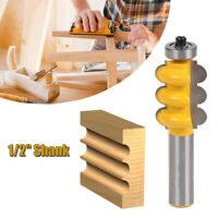 1/2inch Shank Triple Bead Triple 2 Molding Router Bits Woodworking Cutters Alloy