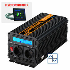 Convertisseur 12V 220V 1500W 3000W pure sinus onduleur LCD Power Inverter CAR RV