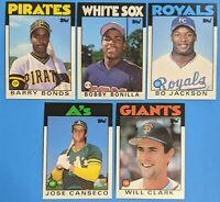 1986 Topps Traded SET ROOKIE HOF CLASS MINT-GEM MINT! SEE PICS