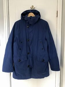 Mens Tommy Hilfiger Hooded Coad Blue Medium