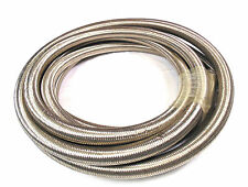 """3/8"""" 10mm ID x 19mm OD STAINLESS STEEL BRAIDED FUEL OIL HOSE Swirl Pot Rally"""
