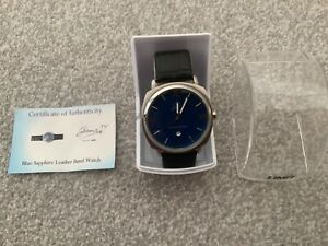 Gems TV Blue Sapphire Mens Watch, with certificate