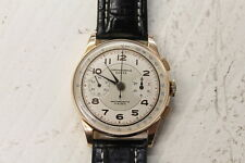 Vintage Chronographe Suisse Chronograph 18K Rose Gold 37.5mm 17 Jewel EC