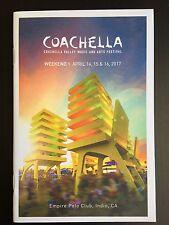 Official Coachella 2017 Weekend 1 Event Program