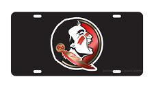 FSU FLORIDA STATE Black Mirrored Seminole License Plate / Car Tag