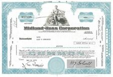 Midland-Ross Corporation > 1971 - Ohio old stock certificate share