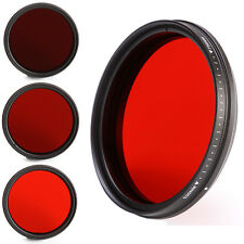Adjustable 55mm Camera Lens Infra-Red IR Filter 530nm to 750nm 590nm 680nm 720nm