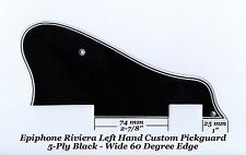 Epiphone LEFT Hand Riviera 5-Ply Blk Mini-HB Custom Pickguard Guitar Project NEW