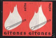 Ancienne étiquette paquet Allumette France Gitanes