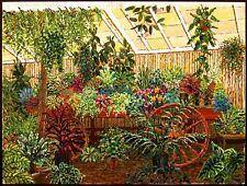 """Joel M. Roman """"Rod McClellans Orchids"""" Original Art Gouache Painting on Paper"""