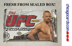 2010 Topps UFC Series 4 Hobby Pack Auto Relic Parallel Chuck Liddell Cover NEW