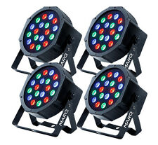 4 x MARQ Lighting Colormax P18 LED Par Can RGB 18 x 1W LED DJ Disco Uplighter
