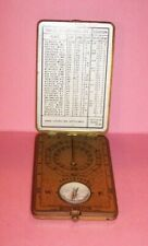 Antique 1922 Ansonia Clock Co SUNWATCH Pocket Style Brass Sundial & Compass US