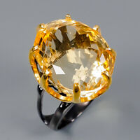 Citrine Ring Silver 925 Sterling 22x17 mm. IF Size 8 /R145092