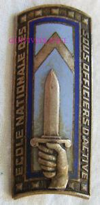 IN11283 - Insigne Ecole Nationale des Sous Officiers d'Active, émail