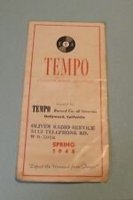 1948 TRA Tempo Record Company of America Catalog Hollywood CA Brother Bones