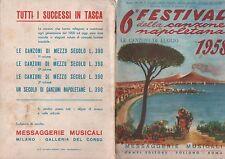 FESTIVAL DI NAPOLI rivista spartito 1958 N.7 festival dela canzone NAPOLETANA