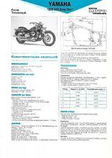 yamaha xvs650 1997 1998  fiche technique revue technique moto DRAGSTAR 650