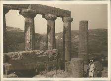 Sicile, Agrigente, La Vallée des Temples, Temple de Juno Lacinia, ca.1925, vinta