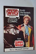 DOCTOR WHO GOLDEN WONDER MARVEL ADVENTURE COMICS No.5 of 6 1986