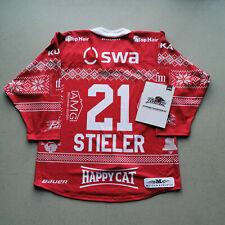 #21 STIELER - GAME WORN JERSEY WEIHNACHTEN - AUGSBURGER PANTHER - DEL 19-20