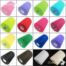 """6""""x100 Yards Tulle Roll Spool Tutu Wedding Gifts Craft Party Decoration Fabric"""