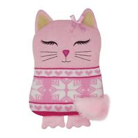 Aroma Home Pink Cat Knitted Lavender Scented Microwaveable Hottie Body Warmer
