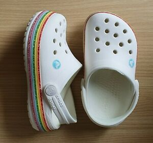 Beautiful Children's White Crocs Size 7