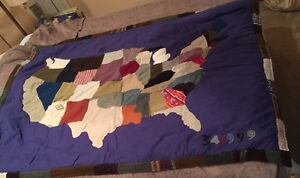 179. Sundance Map Of America Patchwork Quilt Shabby Never Used