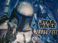 Attack of the Clones Star Wars Jango Fett Blue 2-sided T-shirt Boys Small used