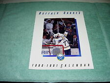 NHL BUFFALO SABRES 1990-1991 HOCKEY FULL SIZE CALENDAR BUDWEIS GREAT PICS! MINT!