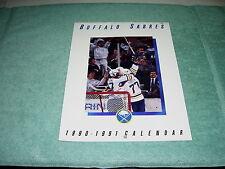 NHL BUFFALO SABRES 1990-1991 HOCKEY FULL SIZE CALENDAR BUDWEIS GREAT PICS! MINT!