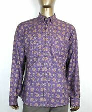$670 New Authentic Gucci Mens Peacock Floral Dress Shirt Slim Purple 336766 5062