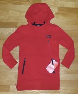 The North Face Boys Girls Tekno Hoodie Sweatshirt Red 18 20 NWT