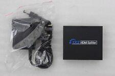 HDMI Splitter 1x2 Split mit 1 Eingang & 2 Ausgängen für Audio HDTV 1080p NEU