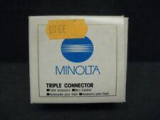 Minolta Triple Connector TC-1000 Flash Accessory 8821-120 new old stock