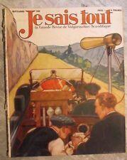 Magazine JE SAIS TOUT sciences populaire antique french mag 1930