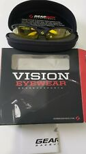 NEW GEARBOX VISION EYEWEAR BLACK FRAME AMBER LENS with HARD CASE