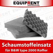 SI Schaumstoff / Einlage / Einsatz für B&W type 2000 Koffer (EQV27)